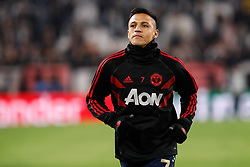 November 7, 2018 - Turin, Italy - Alexis Sanchez of Manchester United during the warm-up ahead of the Group H match of the UEFA Champions League between Juventus FC and Manchester United FC on November 7, 2018 at Juventus Stadium in Turin, Italy. (Credit Image: © Mike Kireev/NurPhoto via ZUMA Press)