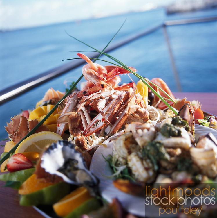 Seafood Platter on balcony overlooking water