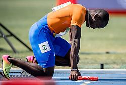 18-08-2016 BRA: Olympic Games day 13, Rio de Janeiro<br /> Solomon Bockarie (foto), Hensley Paulina, Liemarvin Bonevacia en Giovanni Codrington kwamen met een tijd van 38,53 niet verder dan de achtste plaats.