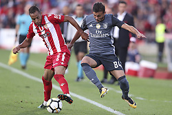 October 22, 2017 - Porto, Aves, Portugal - Avess player Nildo (L) with Benfica's Portuguese forward Diogo Goncalves (R) during the Premier League 2017/18 match between CD Aves and SL Benfica, at Estadio do Clube Desportivo das Aves in Aves on October 22, 2017. (Credit Image: © Dpi/NurPhoto via ZUMA Press)