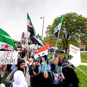 Protest In Kansas City against Syria's Bashar Al-Assad regime.