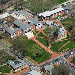Aerial views of the University of Delaware Old College, College of Arts and Sciences,  Newark, Delaware