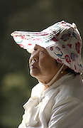 Lady at park in Beijing, China.