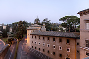 Rome, Vatican Museums, early morning view from the museum