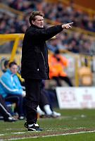 Photo: Richard Lane.<br />Wolverhampton Wanderers v Crewe Alexander. Coca Cola Championship. 11/02/2006.<br />Wolves' manager, Glenn Hoddle.