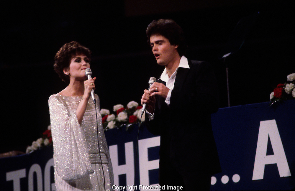 Donny and Marie Osmond perform during the Republican Convention in 1980 in Detroit, MI..Photograph by Dennis Brack bs b 17