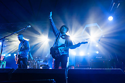 © Licensed to London News Pictures. 18/07/2014. Southwold, UK.   Mogwai performing live at Latitude Festival 2014 on Day 1.  The Latitude Festival is a British annual music festival.  Photo credit : Richard Isaac/LNP