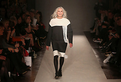 Daphne Selfe, 87, on the catwalk at the Fifty Plus Fashion Week at Cafe Royal in London, launched by retailer JD Williams.