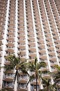 A tall condo in Waikiki.
