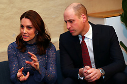 The Duke and Duchess of Cambridge at 'MESH', a work-space for start-up tech companies in Oslo, during their visit to Norway.