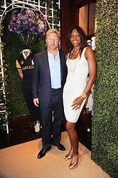 BORIS BECKER and VENUS WILLIAMS at the Ralph Lauren Wimbledon Party held at Ralph Lauren, 1 New Bond Street, London on 17th June 2010.