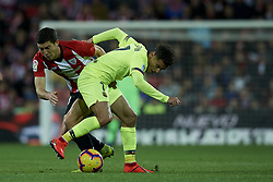 February 10, 2019 - Bilbao, Vizcaya, Spain - De Marcos of Athletic  and Coutinho of Barcelona battle for the ball during the week 23 of La Liga between Athletic Club and FC Barcelona at San Mames stadium on February 10 2019 in Bilbao, Spain. (Credit Image: © Jose Breton/NurPhoto via ZUMA Press)