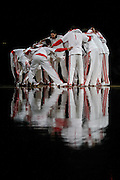 March 17, 2010; Houston, TX, USA; The Houston Rockets huddle up before the game against the Memphis Grizzlies in the first quarter at the Toyota Center. The Rockets won 107-94. Mandatory Credit: Thomas Campbell-US PRESSWIRE