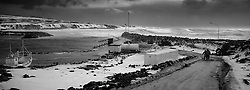 Storm and surf at the harbour in Grimsey, north of Iceland - Stormur og öldur við höfnina  í Grímsey