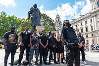 2 Badda filming his new music video at parliament square London june 20th 2020  Photo by Mark Anton Smith