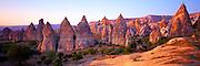 TURKEY, ANATOLIA, CAPPADOCIA landscape, eroded volcanic 'tuff', Goreme