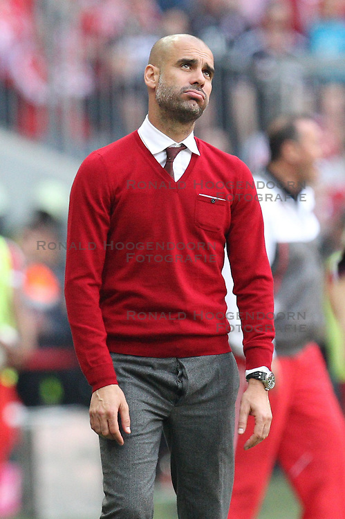 10.05.2014, Allianz Arena, Muenchen, GER, 1. FBL, FC Bayern Muenchen vs VfB Stuttgart, 34. Runde, im Bild Chef-Trainer Pep Guardiola (FC Bayern Muenchen) // during the German Bundesliga 34th round match between FC Bayern Munich and VfB Stuttgart at the Allianz Arena in Muenchen<br /> ***NETHERLANDS ONLY***
