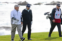 """Feb 6, 2019 Pebble Beach, Ca. USA TV, Film and singing stars that included LARRY THE CABLE GUY, RAY ROMANO whom played in the """"3M Celebrity Challenge"""" to try for part of the 100K purse to go to their favorite charity and win the Estwood-Murray cup, for which team Clint Eastwwod's group won.. The event took place during practice day of the PGA AT&T National Pro-Am golf on the Pebble Beach Golf Links. Photo by Dane Andrew c. 2019 contact: 408 744-9017  TenPressMedia@gmail.com"""