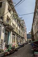 Old colonial buildings in downtown Yangon.