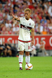 04.08.2015, Allianz Arena, Muenchen, GER, AUDI CUP, FC Bayern Muenchen vs AC Mailand, im Bild Keisuke Honda (AC Mailand) // during the 2015 AUDI Cup Match between FC Bayern Muenchen and AC Mailand at the Allianz Arena in Muenchen, Germany on 2015/08/04. EXPA Pictures © 2015, PhotoCredit: EXPA/ Eibner-Pressefoto/ Stuetzle<br /> <br /> *****ATTENTION - OUT of GER*****