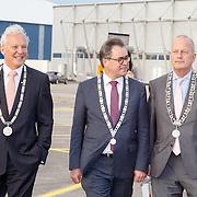 NLD/Katwijk/20151030 - 5 Jarig jubileumvoostelling musical Soldaat van Oranje, burgemeesters Jos Wienen van Katwijk, Jan Hoekema van Wassenaar en Jan Rijpstra van Noordwijk