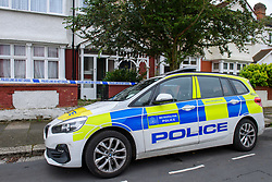 © Licensed to London News Pictures. 15/09/2021. London, UK. A police vehicle outside a property on Leyborne Avenue in Ealing following the death of a 5-year-old girl. A murder investigation has been launched by Metropolitan Police after they were called to the property at 12:56BST on Tuesday, 14 September following concerns for the welfare of the occupants. Police officers and the London Ambulance Service attended. Despite their efforts the girl was pronounced dead at the scene. Photo credit: Peter Manning/LNP