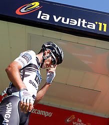 29.08.2011, Andalusien, ESP, LA VUELTA 2011, Stage 17, im Bild Juan Jose Haedo during during the stage of La Vuelta 2011 between Faustino V and Pena Cabarga.September 7,2011. EXPA Pictures © 2011, PhotoCredit: EXPA/ Alterphoto/ Acero +++++ ATTENTION - OUT OF SPAIN/(ESP) +++++