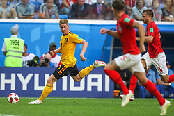 July 14, 2018 - Saint Petersburg, Russia - Kevin De Bruyne (L) of the Belgium national football team vie for the ball during the 2018 FIFA World Cup Russia 3rd Place Playoff match between Belgium and England at Saint Petersburg Stadium on July 14, 2018 in St. Petersburg, Russia. (Credit Image: © Igor Russak/NurPhoto via ZUMA Press)