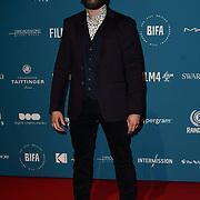 Emmett J. Scanlan Arrivers at The 21st British Independent Film Awards at 1 Old Billingsgate Walk on 21 December 2018, London, UK.
