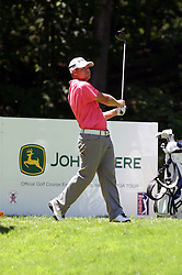 16 July 2006 Ryan Moore follows thru on a drive. The John Deere Classic is played at TPC at Deere Run in Silvis Illinois, just outside of the Quad Cities