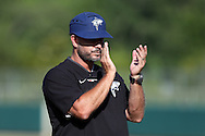 28 May 2016: Nova Southeastern head coach Greg Brown. The Nova Southeastern University Sharks played the Franklin Pierce University Ravens in Game 3 of the 2016 NCAA Division II College World Series  at Coleman Field at the USA Baseball National Training Complex in Cary, North Carolina. Nova Southeastern won the game 4-3 in twelve innings.