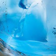 Details of the underside of the Viedma Glacier in Los Glacieres National Park near El Chalten, Argentina.