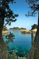 Dogashima Bay.  Sometimes I wish I was a diver instead of a photographer.  This little gem is on the Izu Peninsula of Japan. The Izu Peninsula is a wonderful out of the way, uncrowded corner of Japan that reminded me of the Oregon Coast with different kind of trees.