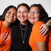 Mentor Anna, Mentees Alejandra, Rachel