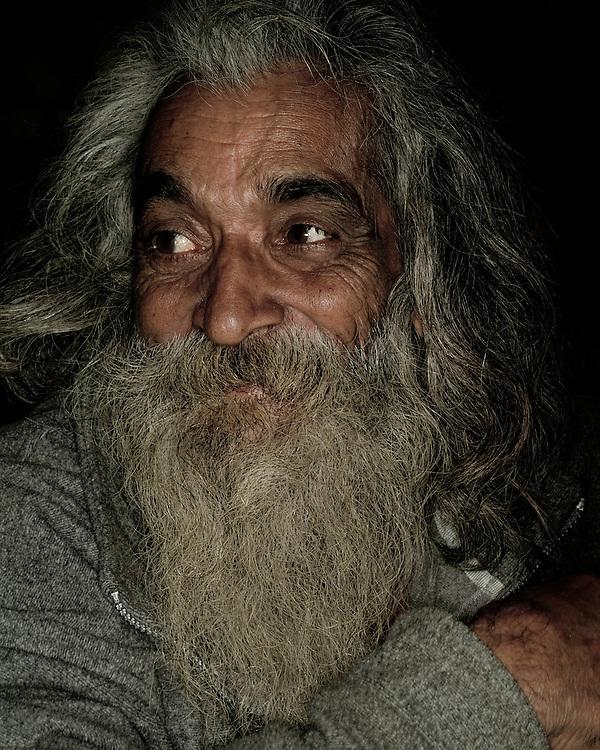 Close-up, Male, Man, Portrait, Senior Citizen, Beard, Facial Hair, Grey, 60-70, Holy Man, Sadhu