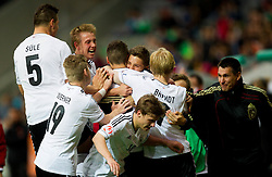 Players of Germany celebrate during the UEFA European Under-17 Championship Final match between Germany and Netherlands on May 16, 2012 in SRC Stozice, Ljubljana, Slovenia. (Photo by Vid Ponikvar / Sportida.com)