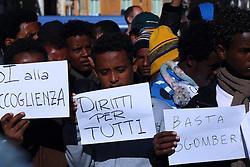 November 12, 2016 - Rome, Italy - Presidium organized by Baobab Experience near the prefecture of Rome for the rights of migrants. (Credit Image: © Matteo Nardone/Pacific Press via ZUMA Wire)