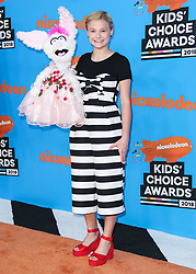 INGLEWOOD, LOS ANGELES, CA, USA - MARCH 24: Nickelodeon's 2018 Kids' Choice Awards held at The Forum on March 24, 2018 in Inglewood, Los Angeles, California, United States. 24 Mar 2018 Pictured: Darci Lynne Farmer. Photo credit: Xavier Collin/Image Press Agency / MEGA TheMegaAgency.com +1 888 505 6342