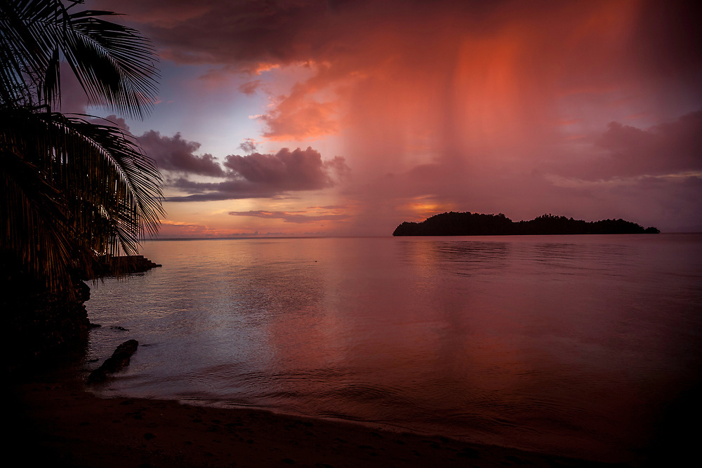 Sunset on the Togean Islands, Sulawesi, Indonesia