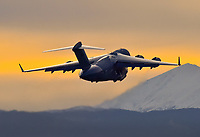A beautiful Whitehorse dawn departure to CFS Alert for this RCAF 429 Squadron Boeing CC-177 lll Globemaster