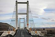 Hanging Bridge over Jokulsarlon glacier lagoon