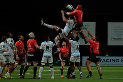 April 8, 2018 - Nanterre, Hauts de Seine, France - RC Toulon Lock JUANDRE KRUGER in action during the French rugby championship Top 14 match between Racing 92 and RC Toulon at U Arena Stadium in Nanterre - France..Racing 92 Won  17-13. (Credit Image: © Pierre Stevenin via ZUMA Wire)