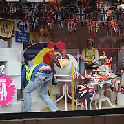 Street scenes in London City centre as London prepares for the  London 2012 Olympic games, UK. 14th July 2012. Photo Tim Clayton