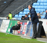 Coventry City manager Tony Mowbray <br /> <br /> Photographer Andrew Vaughan/CameraSport<br /> <br /> Football - The Football League Sky Bet League One - Coventry City v Fleetwood Town - Saturday 27th February 2016 - Ricoh Stadium - Coventry   <br /> <br /> © CameraSport - 43 Linden Ave. Countesthorpe. Leicester. England. LE8 5PG - Tel: +44 (0) 116 277 4147 - admin@camerasport.com - www.camerasport.com