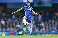 Gary Cahill of Chelsea in action. Premier league match, Chelsea v Leicester city at Stamford Bridge in London on Saturday 15th October 2016.<br /> pic by John Patrick Fletcher, Andrew Orchard sports photography.