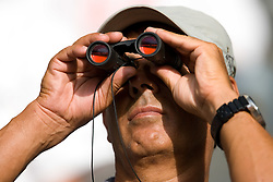Spectator at  the 2009 IAAF Athletics World Championships on August 15, 2009 in Berlin, Germany. (Photo by Vid Ponikvar / Sportida)