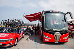 Bus of Bahrain Merida team during Stage 1 of 24th Tour of Slovenia 2017 / Tour de Slovenie from Koper to Kocevje (159,4 km) cycling race on June 15, 2017 in Slovenia. Photo by Vid Ponikvar / Sportida