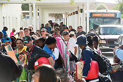 September 8, 2017 - Fort Lauderdale, Florida, U.S - Broward county residents arrive at a hurricane shelter during an emergency evacuation in preparation before Hurricane Irma hits the area. (Credit Image: © Orit Ben-Ezzer via ZUMA Wire)