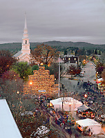 Central Square and pumpkin tower, Keene Pumpkin Festival