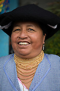 Portrait of Vegetable seller, Otavalo food Market. , Ecuador, South America